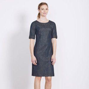 Boden Freya Denim Shift Sheath Dress